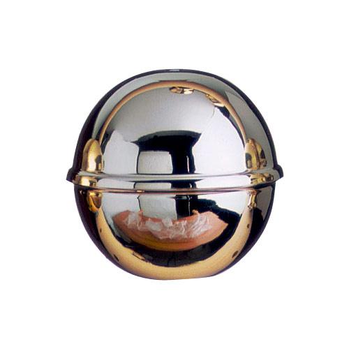 Lightweight chromed brass flagpole finial ball